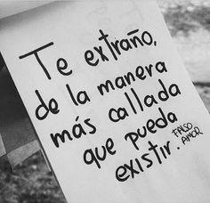No lo reconozco :c Amor Quotes, Sad Quotes, Love Quotes, Words Can Hurt, Love Words, Sad Love, Love You, Just For You, Cute Spanish Quotes