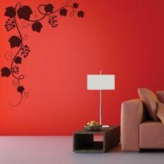 www.stickurz.com, Nature, Flowers, Grapevine, Sticker, Design, Decoration, Wall Decal, wall tattoo