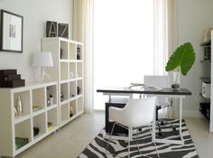 Ravishing home office space with a tinge of natural green