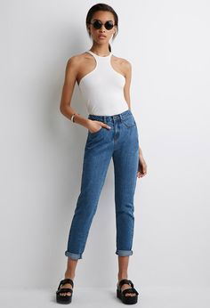 High-Rise Mom Jeans | Forever 21 Canada