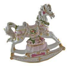 Carousel Horse Music Box | ... Classic - MUSICAL CAROUSEL ROCKING HORSE - MUSIC BOX - Ornament New