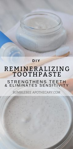 DIY remineralizing toothpaste recipe for nontoxic, clay free toothpaste that hel. - DIY remineralizing toothpaste recipe for nontoxic, clay free toothpaste that helps strengthen teeth - Toothpaste Recipe, Homemade Toothpaste, How To Make Toothpaste, All Natural Toothpaste, Kids Toothpaste, Cure Tooth Decay, Tooth Sensitivity, Natural Beauty Tips, Diy Skin Care