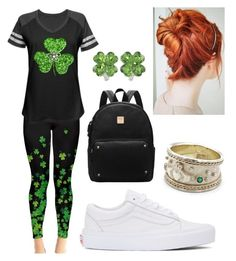 """""""Happy St. Patrick's Day!"""" by forever-me-hz ❤ liked on Polyvore featuring Vans"""