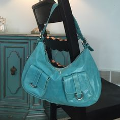 PAOLA By Perlina Handbag Turquoise soft leather handbag new without tags Paola Bags