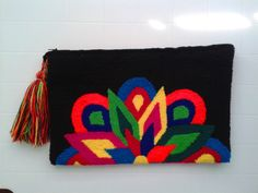 Colour and pattern variations may occur as that is the charm of owning a handmade piece. Phulkari Embroidery, Embroidery Purse, Embroidery Stitches, Embroidery Designs, Tapestry Bag, Tapestry Crochet, Mexican Embroidery, Diy Clutch, Jute Bags