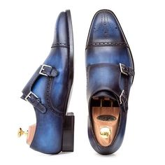 Double monkstraps by @andres_sendra_shoemaker