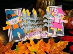 """Cricut Fall Card using Simply Charmed and """"Just Because"""" Cards"""