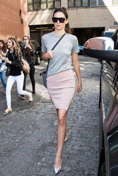 Kendall Jenner Skirt Street Style