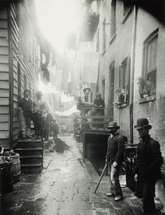 Bandit's Roost, 59 Mulberrry Street NYC, by Jacob Riis