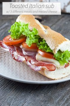 Stop trying to figure out what to have for lunch today, all you need to do is to make this easy and super delicious toasted Italian sub with 3 different kinds of meat and soft, melted cheese. Ready in 10+ minutes.