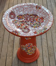 Mosaic Birdbath | Flickr - Photo Sharing!