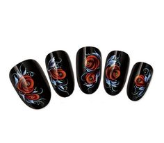 Ottery 1PCS Wonderful Deep Red Rose Flowers Pattern Water Transfer Decals Nail Stickers For Nail Art Tattoo Nail Wrap Cell Phone Case -- More info could be found at the image url.