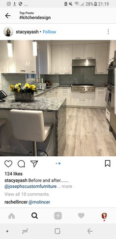 Love these cabinets! Open Kitchen And Living Room, Kitchen Dinning Room, Kitchen Decor, Kitchen Cabinets To Ceiling, Kitchen Cabinet Design, Condo Interior, Kitchen Interior, Condo Design, House Design
