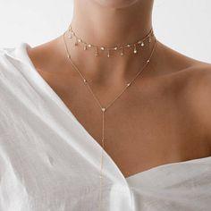 Tassel Star Choker Necklace Gold schmuck/Make up Quaste Star Choker Halskette Gold Dainty Jewelry, Cute Jewelry, Silver Jewelry, Women Jewelry, Silver Ring, Silver Earrings, Gold Jewellery, Diamond Earrings, Glass Jewelry