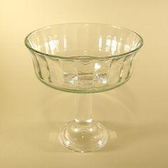 Pedestal Serving Glass Pedestal Bowl by NellieBlyHomeDecor on Etsy, $19.95 Serving Platters, Pedestal, Unique Jewelry, Tableware, Handmade Gifts, Etsy, Vintage, Kid Craft Gifts, Serving Plates