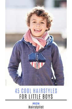 : 45 Hairstyle Ideas for Little Boys : Discover the most trending hairstyles for little boys and learn how to style them Little Boy Hairstyles, Cool Hairstyles, Hairstyle Ideas, Wavy Layers, How To Cut Bangs, Trending Hairstyles, Boyish, Pompadour, Haircuts For Men