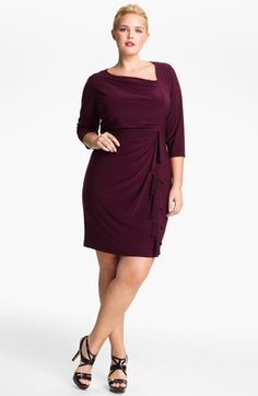 Eliza J Asymmetrical Knit Dress (Plus) available at #Nordstrom  I am in LOVE with this dress. I may have to get it for my special occasion dress since I have a few events coming up!