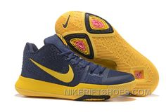low priced 06000 8eee6 Nike Kyrie 3 Mens BasketBall Shoes Cavs Yellow Lastest 74GZp