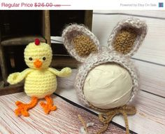 Baby Bunny Hat Easter Bunny by silverboutiquecrafts on Etsy  https://www.etsy.com/listing/217628171/sale-baby-bunny-hat-easter-bunny?ref=shop_home_active_5