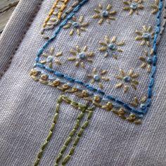 little reader bookmark embroidery pattern por LiliPopo en Etsy