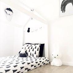 monochrome minimalist nursery kids bedroom. white interior. instagram @inkibabinki