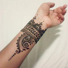 Henna cuff by Nindya Henna Studio                                                                                                                                                      More