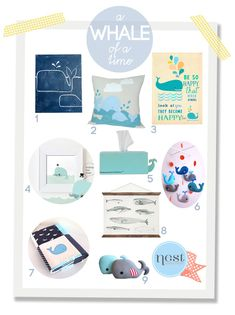 How cute are these whales for a boys nursery - a whale of a time  #incy interiors #dream children's room