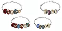 Swarovski Becharmed Pavé Bead bracecet inspirations.  The Becharmed Bead line offers collectible, customizable, endless options!