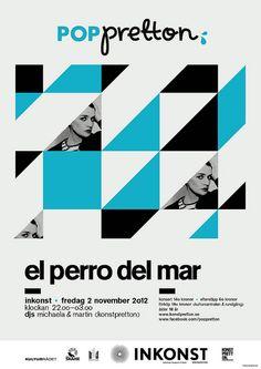 El Perro Del Mar poster by Michaela Nico, via Flickr