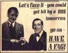 vintage smoking ad