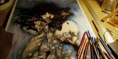 BEAUTIFUL COLOUR PENCIL ART BY MARCO MAZZONI