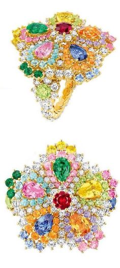 Cher Dior Majestueuse Multi-colored Ring, via Haute Tramp