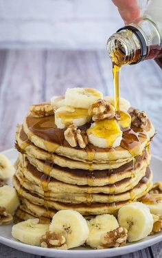 The Best Banana Oatmeal Pancakes - Dishing Delish