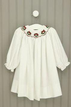 Bailey Boys Size 12M Wreath Smocked Dress