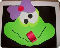 Cute frog craft!