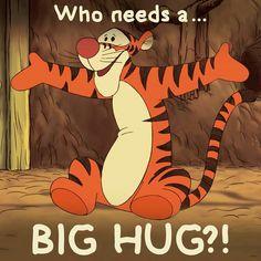 Tigger Disney, Tigger Winnie The Pooh, Winnie The Pooh Quotes, Winnie The Pooh Friends, Pooh Bear, Disney Fun, Eeyore, Hug Cartoon, Cartoon Memes