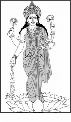 1000 images about coloring pages on pinterest coloring for Lakshmi coloring pages
