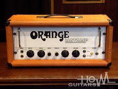 Super rare British vintage amp from 60s. 1969 ORANGE MATAMP OR-100 Head Amplifier. Very hard to find.Designed by ORANGE music store founder Cliff Cooper and Mat Mathias from RadioCraft who also built MATAMP in 60s to 70s. This OR-100 is the first 100W model of Orange amplifier and the original of any later orange heads. This particular model were made during 1968 to 1970 only two years, Not many numbers there. ECC83x2, EL34x4. Heavy duty Partridge transformers.Controls at the front are…