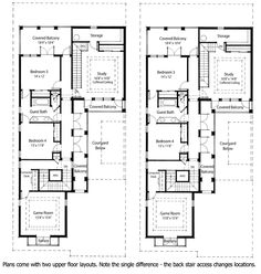 Plan 33047ZR: Energy Saving Courtyard House Plan | Guest suite ...