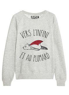 "Sweat ""Vers l'infini"" Plus Funny Shirts For Men, Kids Shirts, Tee Shirts, Tees, Sweat Original, Nike Sweatshirts, Hoodies, Chemise Fashion, Funny Quotes For Kids"
