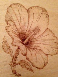 Pyrography Flower
