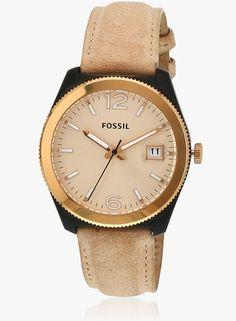 Fossil Beige/Golden Analog Watch   #Fossil        #Beige&Golden     #AnalogWatch