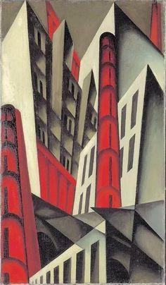 'Pittsburgh,' Louis Lozowick c. Modern Art, Cubism Art, Art Painting, Futurism Art, Painting, Art Deco Paintings, Art, Art Movement, Abstract