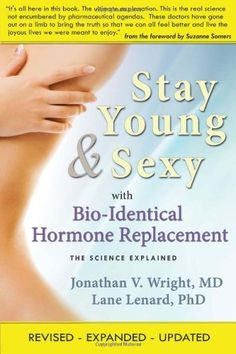 Stay Young & Sexy with Bio-Identical Hormone Replacement: The Science Explained by Jonathan V. Wright http://www.amazon.com/dp/1890572225/ref=cm_sw_r_pi_dp_WBtNvb1B1TG89