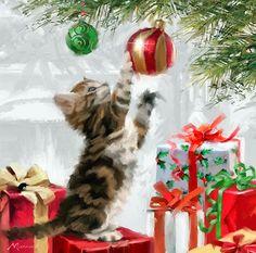 Merry #Christmas #Cat