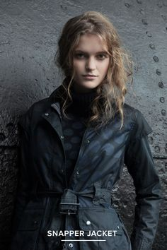 AW14 Barbour X Christopher Raeburn:   The Snapper Jacket - Inspired by Barbour's iconic Ursula jacket from the 1930's.   http://www.barbour.com/uk/all-collections/womens/waxed-jackets/snapper-jacket/p/LWX0387NY7110