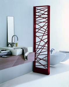 Mike designer radiator: an impressive contemporary steel radiator. It gives stylish interior decoration for the house. This designer radiator can be installed as room divider and is availabl Home Radiators, Bathroom Radiators, Bathroom Heater, Bathroom Furniture, Bad Inspiration, Bathroom Inspiration, Bathroom Ideas, Decorative Radiators, Interior Exterior