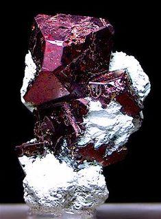 Cuprite on Chrysocolla - Mashamba West Mine, Shaba, Zaire. / Mineral Friends <3