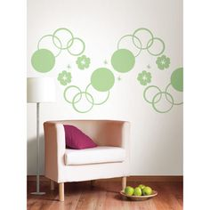 Wall Pops Oh Pear Dot and Oh Pear Hooplah Dot Wall Decals