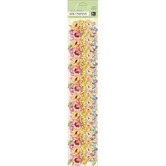 K&Company  Watercolor Bouquet Floral Adhesive by sagebrush12, $3.50
